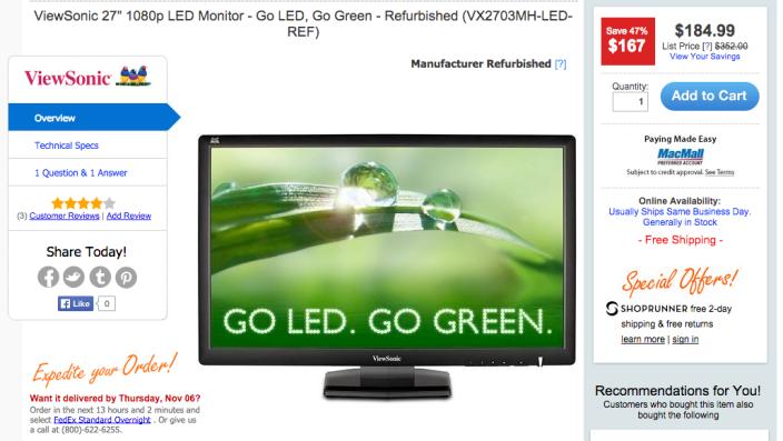 27-inch ViewSonic1080p LED Monitor-sale-02