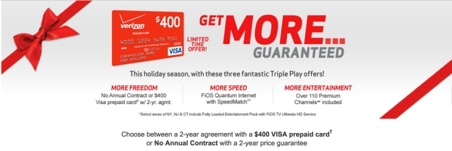 400 gc verizon fios triple play