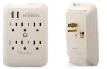 Aduro 3- or 6-Outlet Surge Protector and Dual-USB Multi-Charging Station
