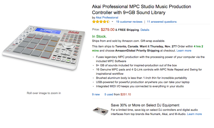 Akai Professional MPC Slimline Studio Music Production Controller-sale-03