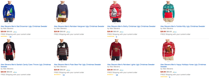 alex-stevens-ugly-christmas-sweater-amazon-deals