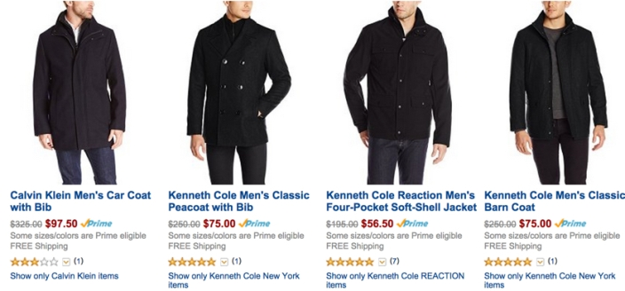 Amazon Gold Box 70% off wool coats