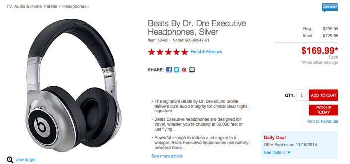 Beats By Dr. Dre Executive Headphones in silver-sale-03