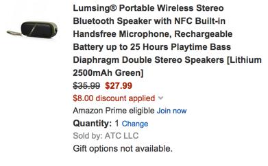 bluetooth speaker lumsing