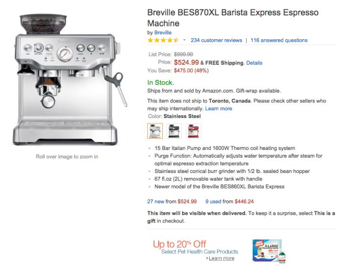 Breville Barista Express Espresso Machine-BES870XL-02
