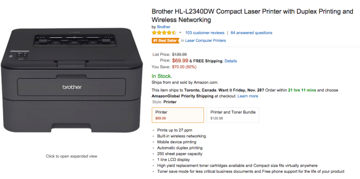 Brother Compact Laser Printer with Duplex Printing and Wireless Networking (HL-L2340DW)-sale-02