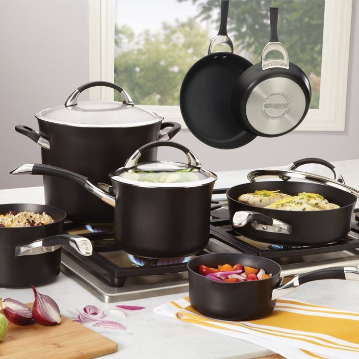 Circulon Symmetry Hard Anodized Nonstick 9-Piece Cookware with 2-Piece Bakeware Set-sale-01