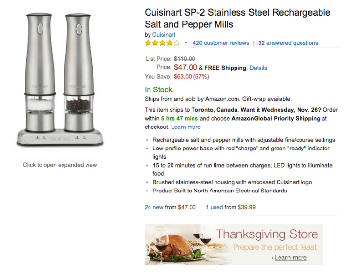 Cuisinart SP-2 Stainless Steel Rechargeable Salt and Pepper Mills-sale-02