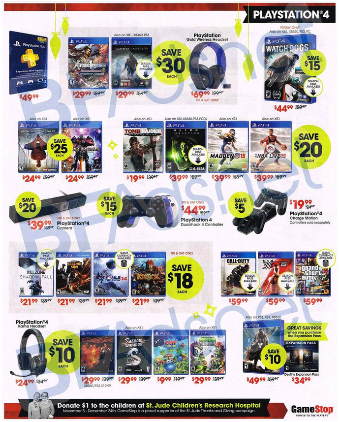 GameStop's full Black Friday ad leak: PS4 bundle $400, Xbox One from $330, GTA V Shark cards 50% off, more
