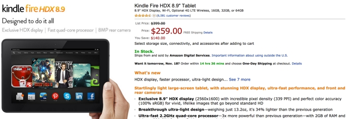Gold box kindle fire