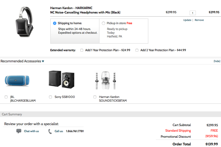 Harman Kardon NC Noise-Cancelling Headphones with Mic in black (HARKARNC-sale-02