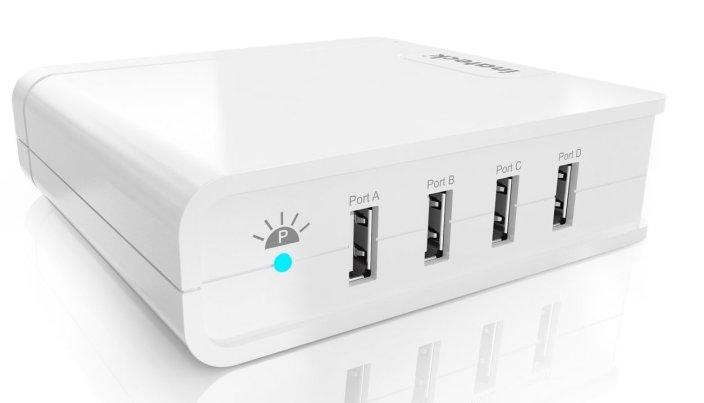 Inateck 4-Port 30-watt Compact USB Wall Charger