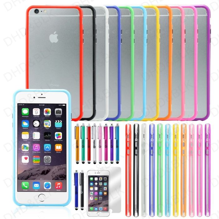 iPhone 6 Plus 5.5%22 TPU Rubber Ultra Thin Bumper Case Frame Cover Skin