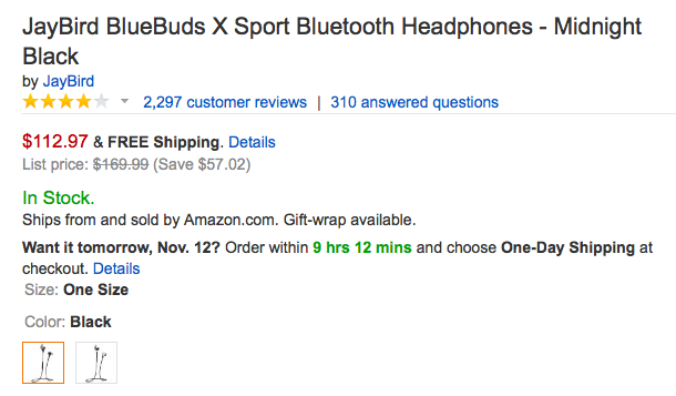 JayBird-BlueBuds X-Sport-Bluetooth-Headphones-amazon-deal
