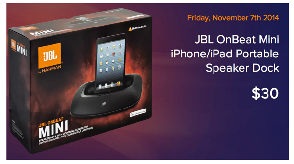 JBL OnBeat Mini iPad & iPhone Dock & High Performance Speaker with Lightning Connector