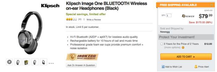 Klipsch Image One BLUETOOTH Wireless on-ear Headphones (Black)-02