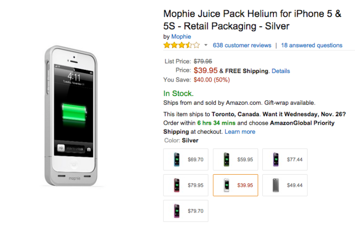 Mophie Juice Pack Helium for iPhone 5:5s in silver-sale-03