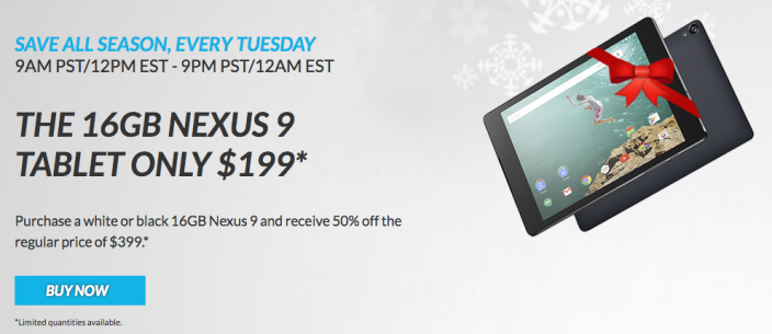 HTC kicks off new holiday promotion by offering Nexus 9 tablet for 50% off (update: sold out)