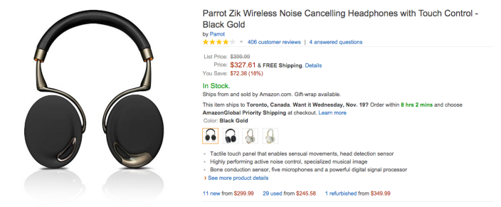 Parrot Zik Wireless Noise Cancelling Headphones with Touch Control-sale-03