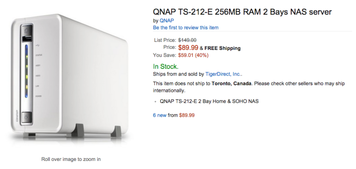 QNAP NAS deals: TS-212 2-Bay diskless $90 shipped (orig  $150), TS