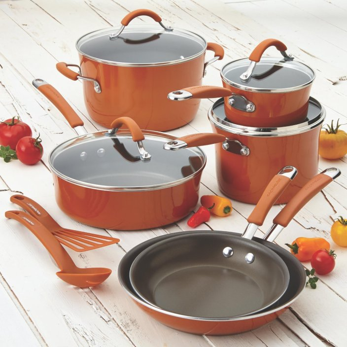 Rachael Ray Cucina Porcelain Enamel Nonstick 12-Piece Cookware Set-sale-01