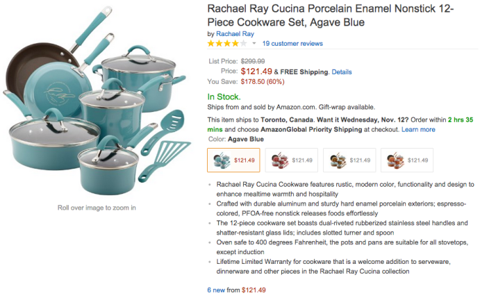 Rachael Ray Cucina Porcelain Enamel Nonstick 12-Piece Cookware Set-sale-02
