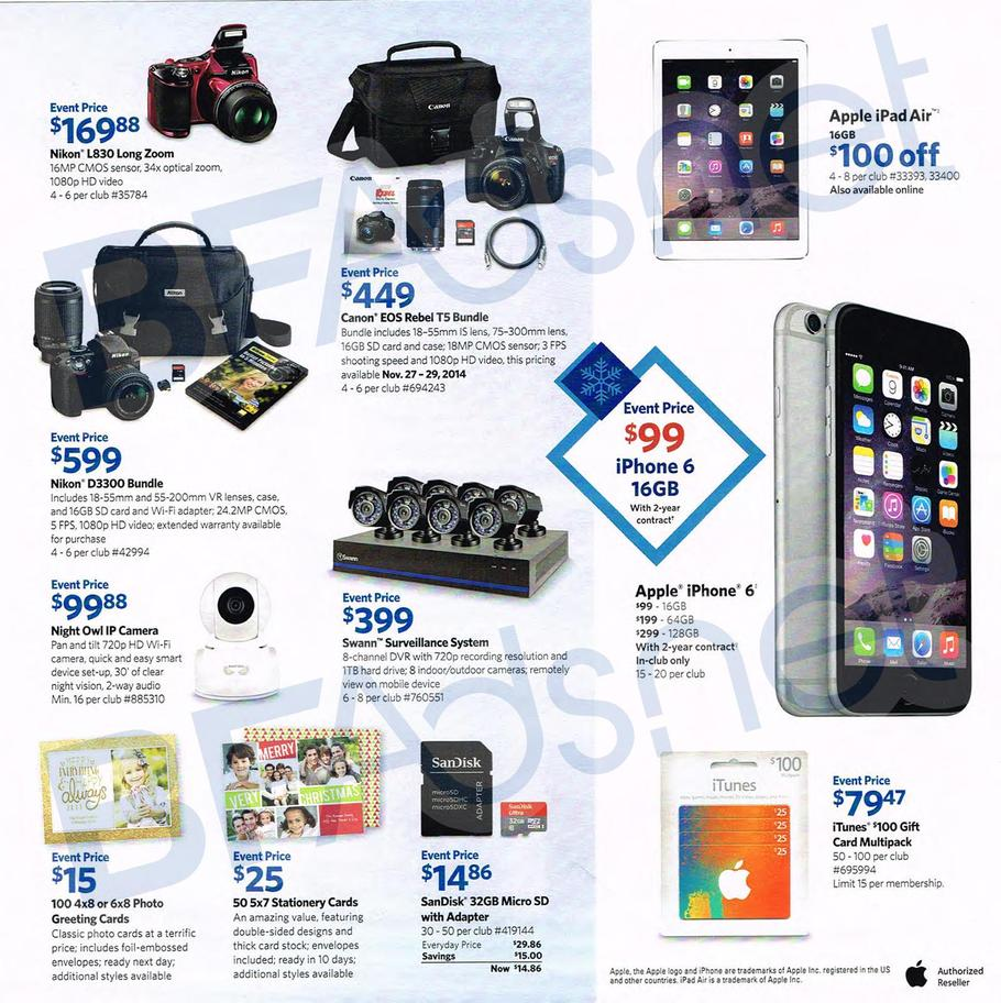 Sam's Club Black Friday Ad Leak: Discounted ITunes/Google