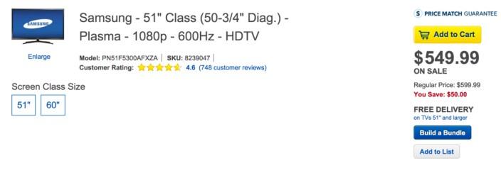 Samsung - 51%22 Class  - Plasma - 1080p - 600Hz - HDTV