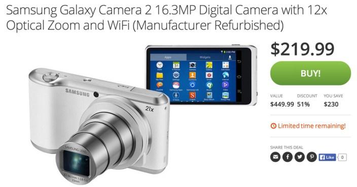 Samsung Galaxy Camera 2 16.3MP Digital Camera with 12x Optical Zoom
