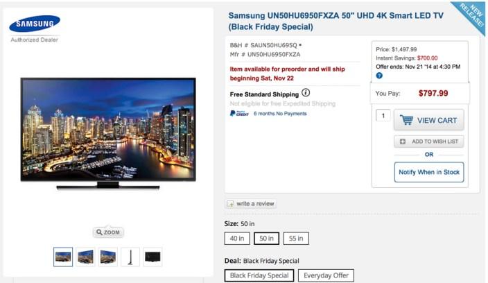 Samsung UN50HU6950FXZA 50%22 UHD 4K Smart LED TV