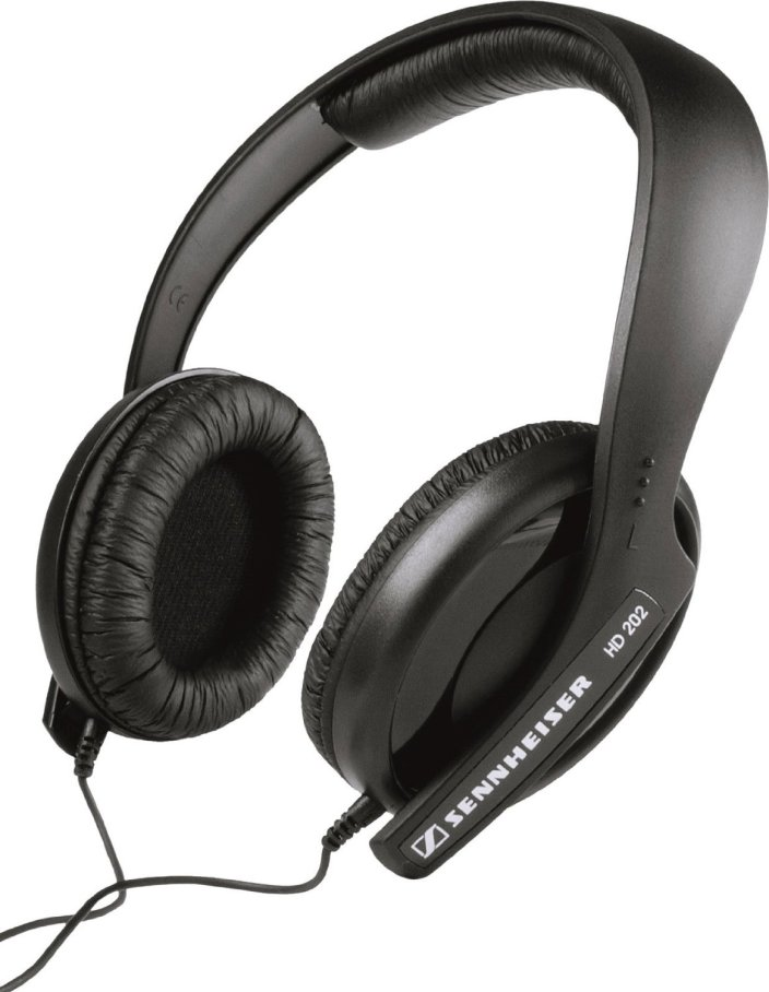 Sennheiser HD 202 II 3.5mm: 6.3mm Connector Semi-Circumaural Dynamic Hi-fi Headphone