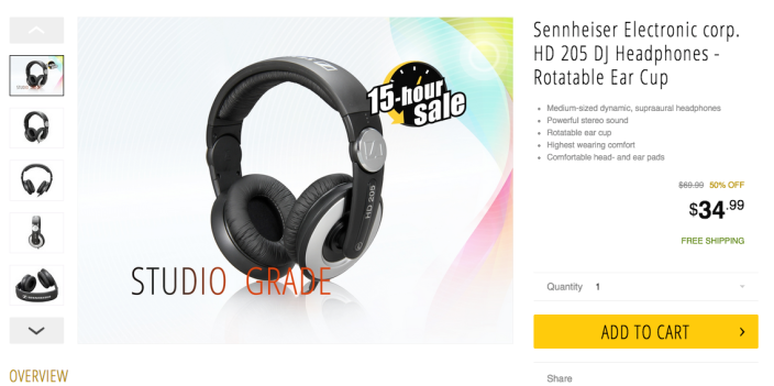 Sennheiser HD 205-II Studio Grade DJ Headphones-sale-04