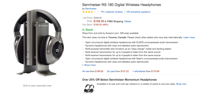 Sennheiser RS 180 Digital Wireless Headphones-sale-03