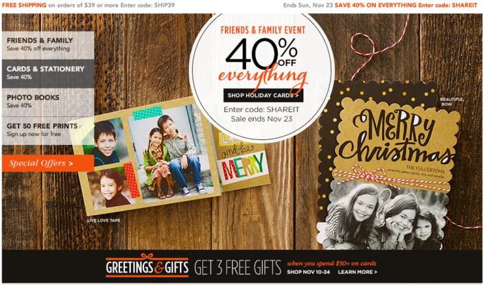 Shutterfly discounts 40% off