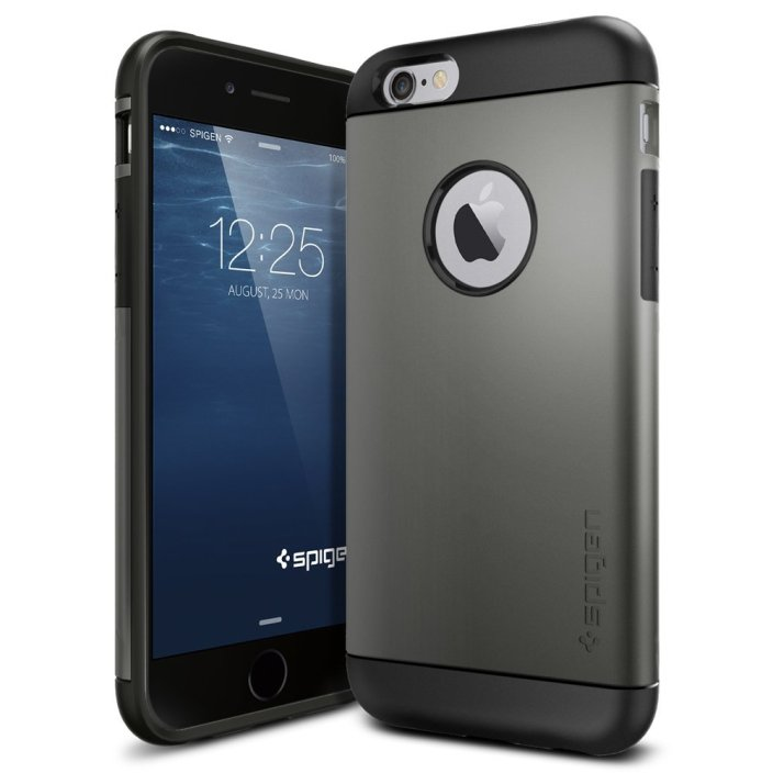 Spigen Slim Armor Case for iPhone 6 in Gunmetal grey-sale-01
