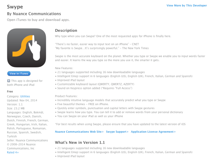 Swype-iOS8-sale-01