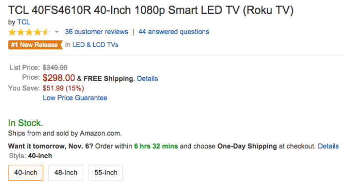 tcl-roku-40-inch-40FS4610R-amazon