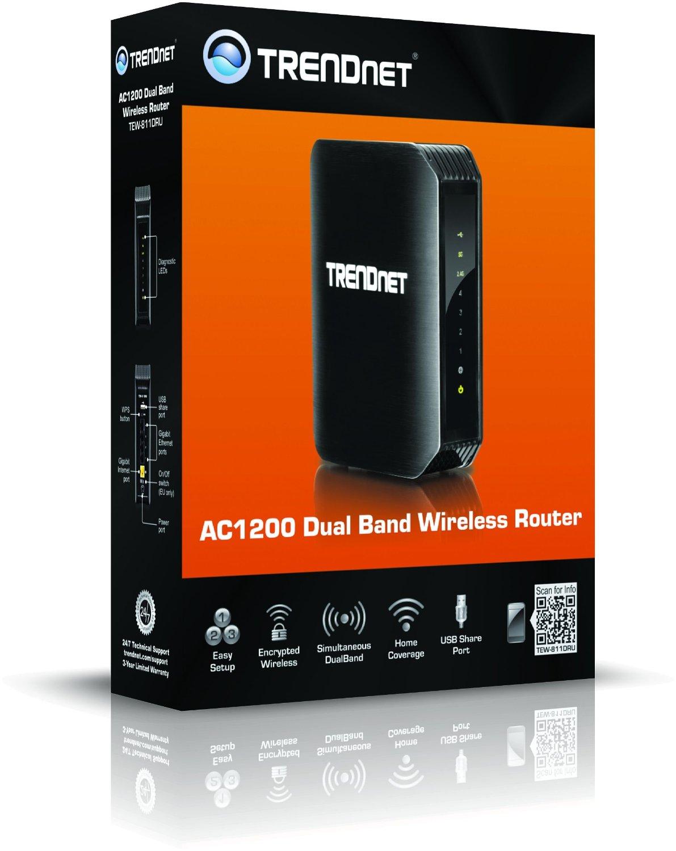 TRENDnet Wireless AC1200 Gigabit wireless router with USB