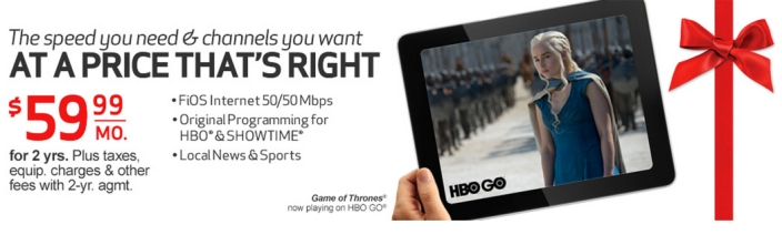 Verizon fios netflix hbo showtime game thrones