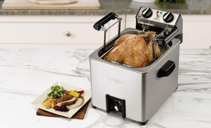 Waring Pro Professional Rotisserie Turkey Fryer:Steamer-TF200-01-sale