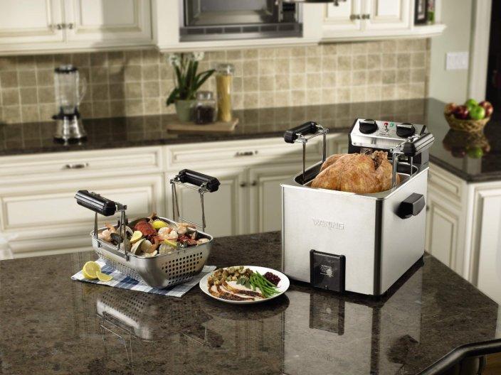Waring Pro Rotisserie Turkey Fryer:Steamer (TF200B)