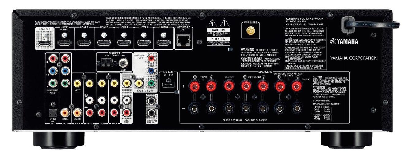 yamaha rx v577 7 2 channel wi fi network av receiver with. Black Bedroom Furniture Sets. Home Design Ideas