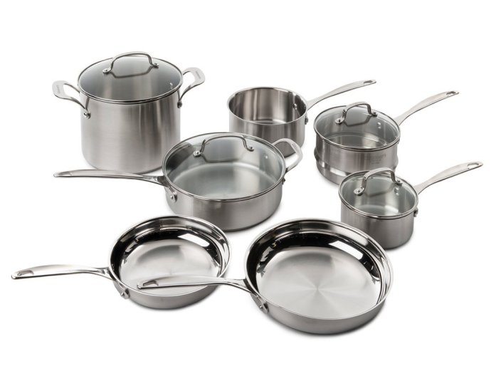 11-Piece Cuisinart Stainless Steel Cookware Set (CLCS-11-sale-01