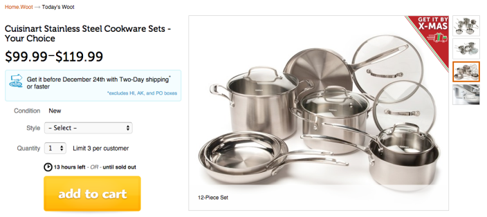 11-Piece Cuisinart Stainless Steel Cookware Set (CLCS-11-sale-02