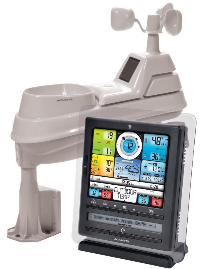 AcuRite 01036 Pro Color Weather Station with PC Connect, Rain, Wind, Temperature, Humidity, and Weather Ticker