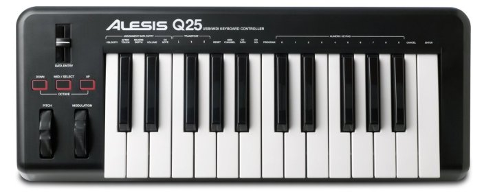 Alesis Q25 25-Key USB MIDI Keyboard Controller-sale-02