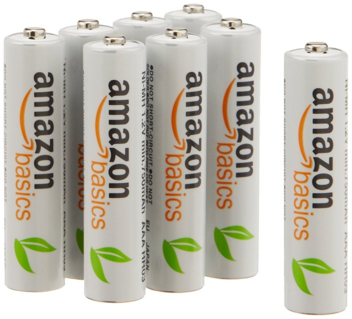 AmazonBasics AAA 8-Pack Ni-MH Rechargeable Batteries (1000