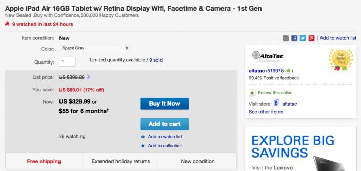 apple-ipad-air-16gb-ebay-deal