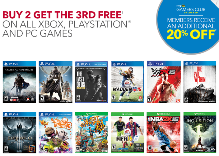 Games/Apps: Buy 2 Get 1 Free at Best Buy, Nintendo 3DS XL $150 (Reg