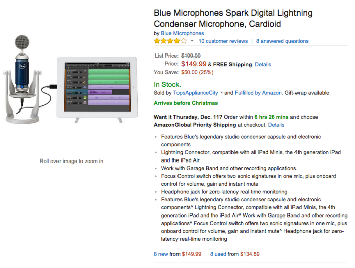 Blue Microphones Spark Digital Lightning Condenser Microphone-sale-03